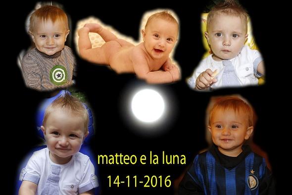 Notte di Luna piena e il nipotino del Fotoreporter Antonio Pisoni (Autore di questa fotocomposizione