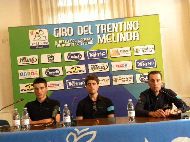 a sinistra Gianni Moscon e, a destra, Vincenzo Nibali (Foto Nastasi)