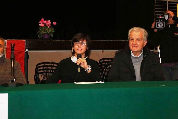 Cecilia Orsi, Castelnuovo Ass Sport e Pierangelo Cisi vicesindaco Alzano Scrivia (Foto Pisoni)