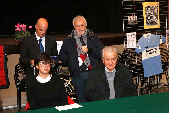 Ass Sport Castelnuovo Scrivia Cecilia Orsi con vicesindaco di Alzano Scrivia, Pierangelo Cisi (Foto Pisoni)