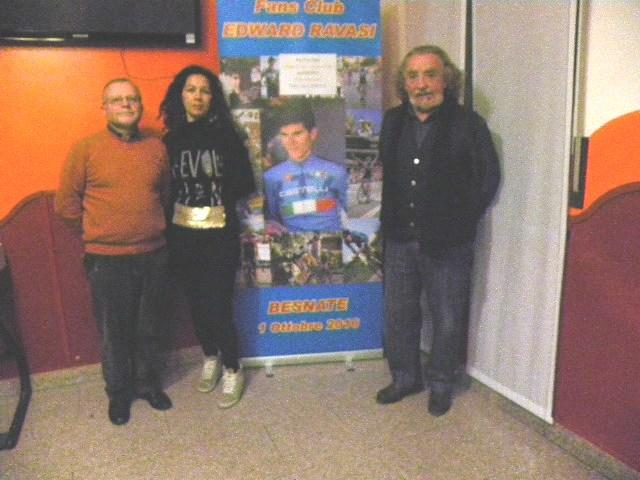 La Titolare del Bar New Deal con Athos Campagnoli e Donato Mazzucchelli (Foto Nastasi)