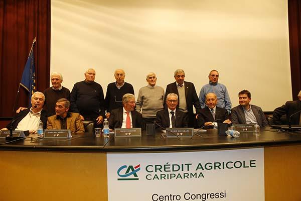 Relatori ed alcuni ex Corridori della Salvarani (Foto Pisoni)