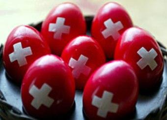 01.02.16 - Uova con Bandiera Svizzera