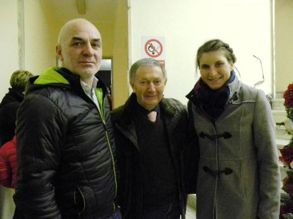 Da sx, Florindo Barale, Vito Bernardi ed Elisa Longo Borghini (Foto Nastasi)