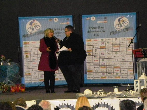 Sindaco di Pieve Vergonte, Maria Grazia Medali con Gianluca Trentini (Foto Nastasi)