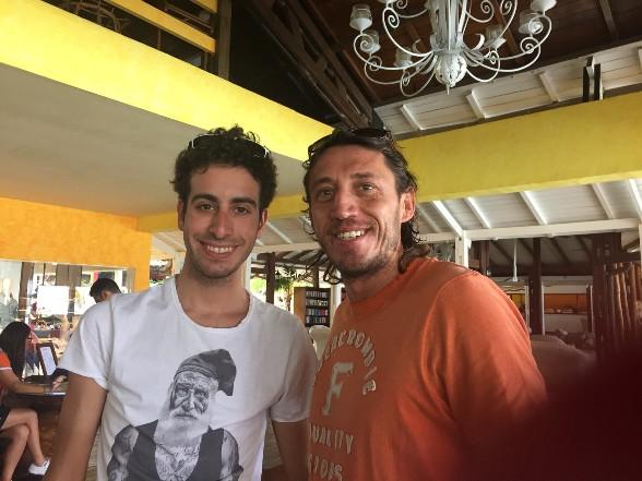 Fabio Aru e Christian Pisoni in vacanza nell'estate 2016 in Madagascar.