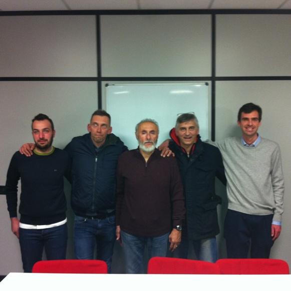 Il Nuovo CP-FCI di Alessandria : da sx Malatesta, Pernigotti, Bucci (Presidente), Gabbero e Ferrari Cuniolo