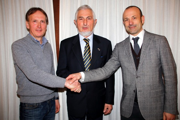 I due neo vicepresidenti, da sx Corbanese e Libert, col neo presidente Igino Michieletto (Photobicicailotto)