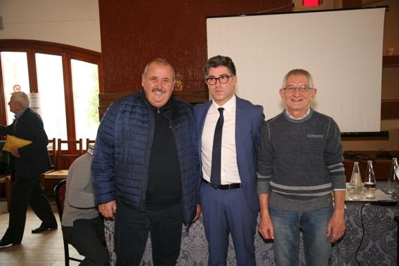 Vietri e i due vicepresidenti da dx, Milanetti Mauro e,