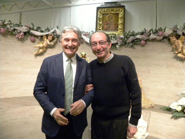 Beppe Saronni con Don Gianni, suo rivale in bici (Foto Nastasi)