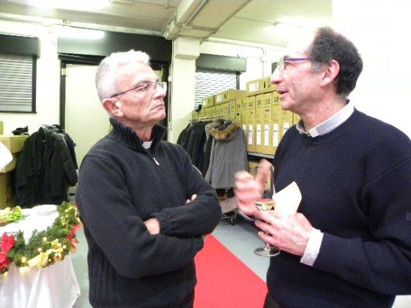 A sx, Don Felice Riva e a dx Don Gianni Nava (Foto Nastasi)