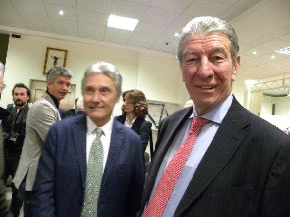 Giuseppe Saronni e Felice Gimondi (Foto Nastasi)