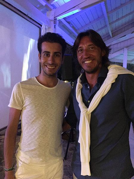 Christian Pisoni con Fabio Aru