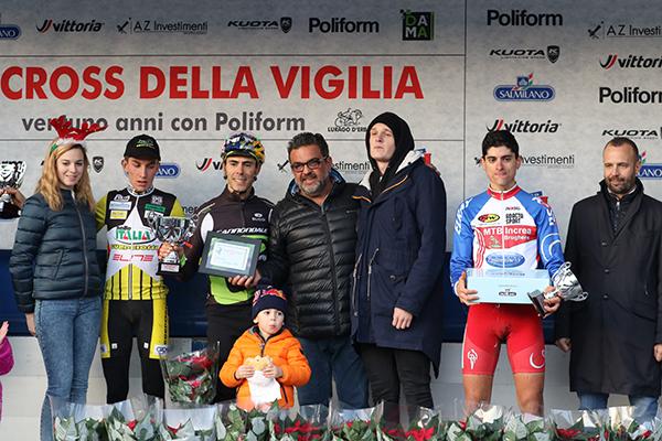 Podio Elite U23 con Giovanni Bartesaghi (Foto Kia)