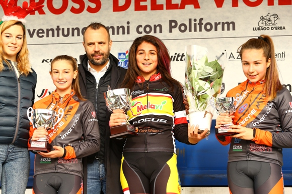 Da sx, Martina Recalcati, Benedetta Brafa e Matilde Ceriello (Foto Comunicato Stampa Lissone Mtb)