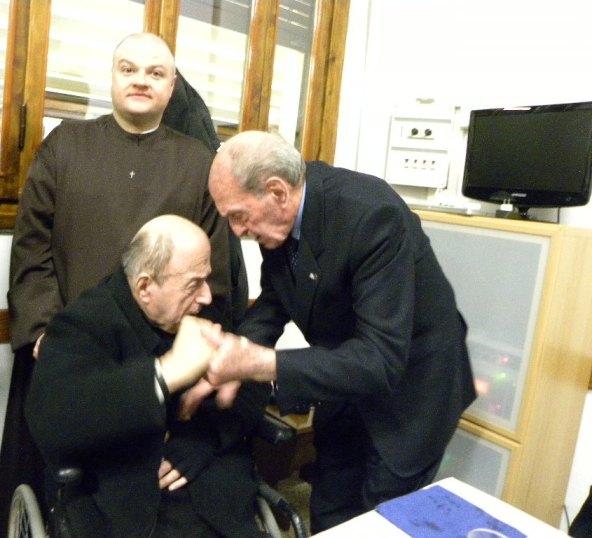 Padre Agostino Bartolini qui con Martini e Padre Raffaele