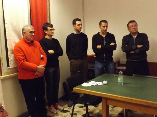 Il nuovo CP-FCI di Mantova con Fausto Armanini (col maglione rosso) - Foto di Paolo Biondo