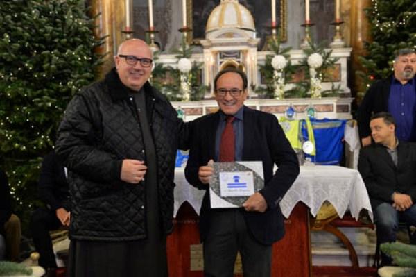 Marcello Bergamo con Padre Agostino Gelli (Foto Remo Mosna)