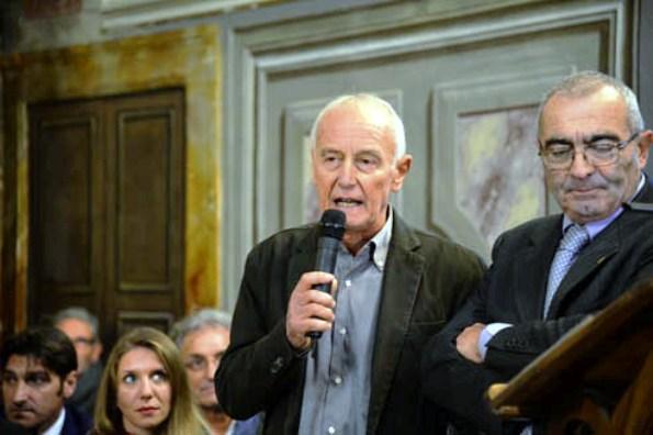 Il grande Roberto Poggiali con Mannori (Foto Remo Mosna)