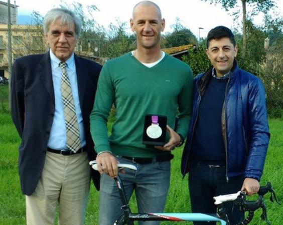 Antonio Zanon, primo a sx, neopresidente CR-FCI Lazio