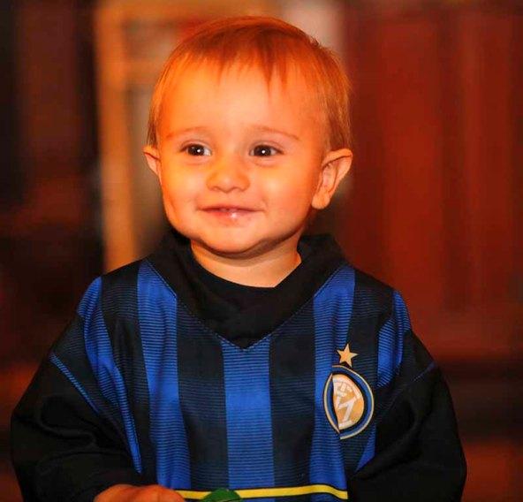 Matteo, il nipotino di Zio Piso con la casacca nerazzurra...(Foto di Antonio Pisoni)