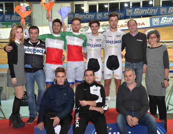 Team Colpack Pista Montichiari (Foto Rodella)
