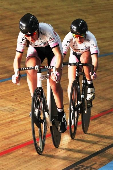 Martina Michelotti e Debora Silvestri, 3^ classificate velocita^ squadre (Foto Ghilardi)
