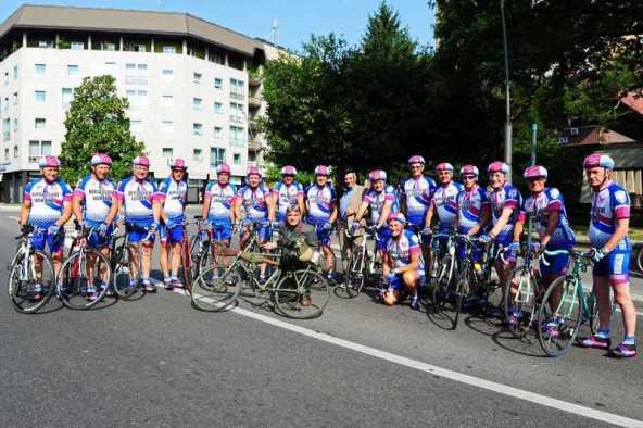 Gruppo Bersaglieri Ciclisti Carlo Regina, fondato dal Generale Luigi Casini (Foto Luigi Frigo)