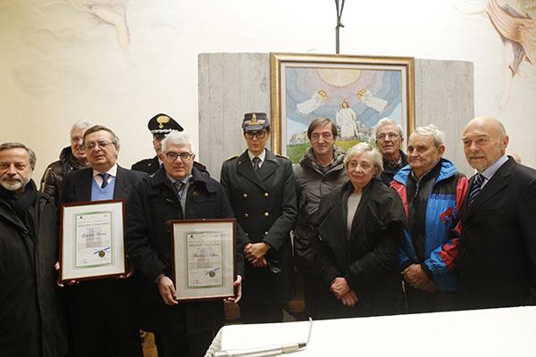 I Giornalisti Massimo Delfino e Gabriele Moroni, entrambi Premio Welcome Castellania (Foto Pisoni)