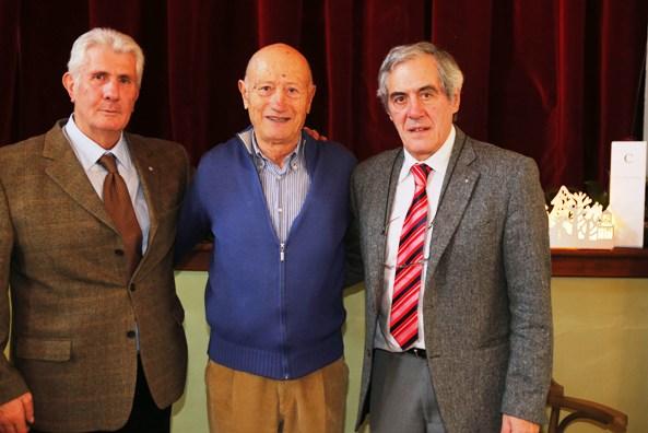 Da sx, Cosimo Pinto (Pugilato), Marino Vigna (Ciclismo) e Mario Armano (Bob a 4) tre Olimpionici (Foto Pisoni)