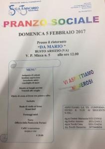 04.01.2017 - LOCANDINA PRANZO SOCIALE 2017