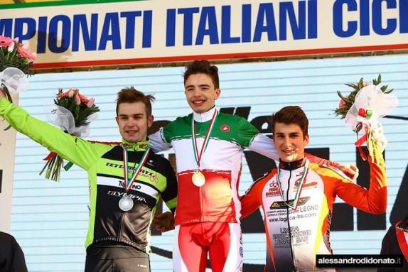 Podio Allievi 2^ anno col Tricolore Luca Verre (Foto alessandrodidonato)