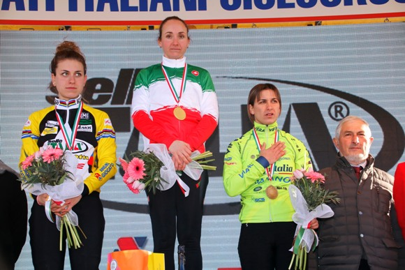"L'Inno di Mameli, ""Fratelli d'Italia"" in onore del Podio Tricolore Categoria Donne Elite (photobicicailotto)"
