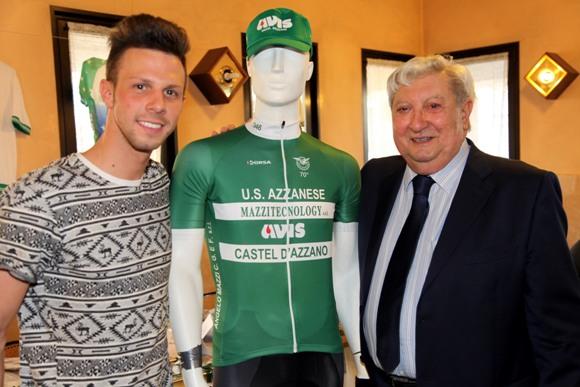 Michele Scartezzini col presidente Mazzi (photobicicailotto)