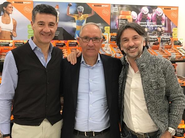 da sx, Maurizio Corapi, Giuseppe Martinelli e Andra Rosso.