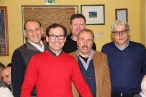 Da sx, Babini, Cassani, Cav. Otello, Amadori e dietro, Silvagni (Foto Mauro Benini)