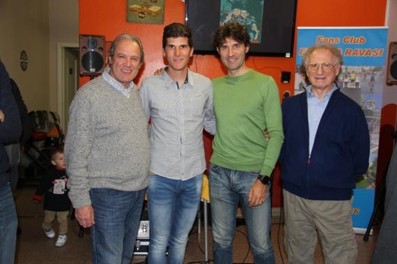 Da sx, Gallipacciorino, Ravasi, Peron e Franco Cribiori (Foto di Valentino Lavazza)