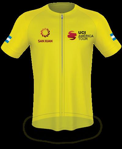 Maglia gialla-amarillo, leader classifica a punti, G. Lopez Franco