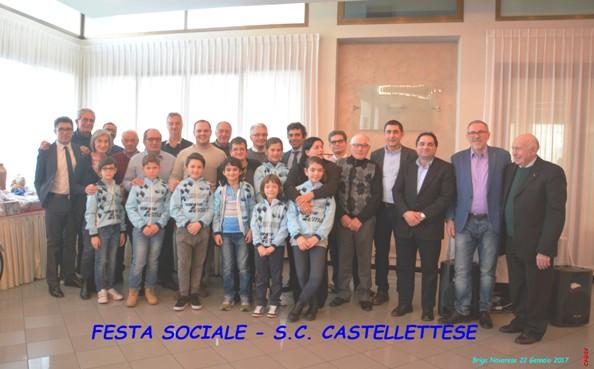 Foto Atleti e Dirigenti al Pranzo sociale della SC Castellettese domenica 22.01.2017 (Foto di Gio.More ciclo@system)