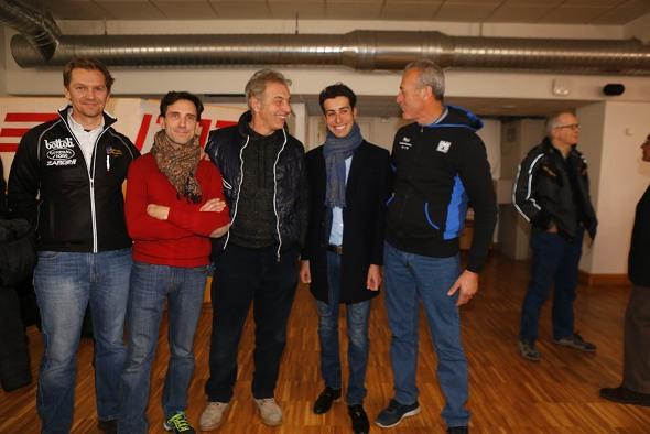 Fabio Aru qui con Alessandro Bertolini, Gemin, Locatelli e Di Tano (Foto Pisoni)