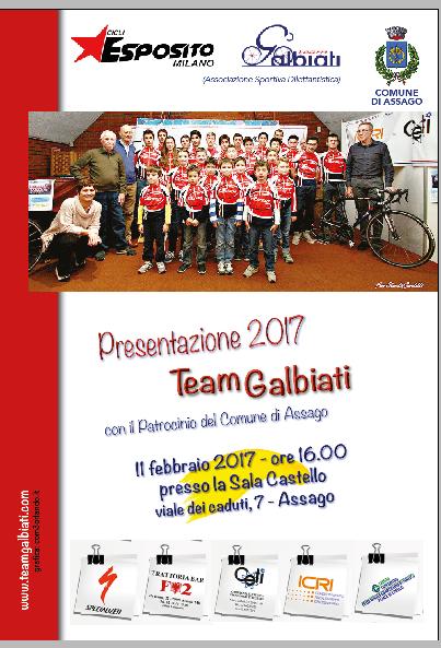 25.11.2017 _ LOCANDINA - Presentazione 2017 TeamGalbiati