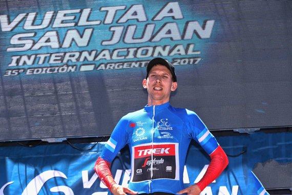Bauke Mollema nuova maglia azzurra alla Vuelta a San Juan 2017 - 35th Edition -  5th stage Chimbas - Alto Colorado 162,4 km - 27/01/2017 - - photo Ilario Biondi/BettiniPhoto©2017