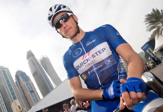 Peloton during the Dubai Silicon Oasis stage, the Third stage of the Dubai Tour 2017, 200 km from Dubai International Marine Club to Al Aqah. Dubai, 2 February 2017. ANSA/CLAUDIO PERI
