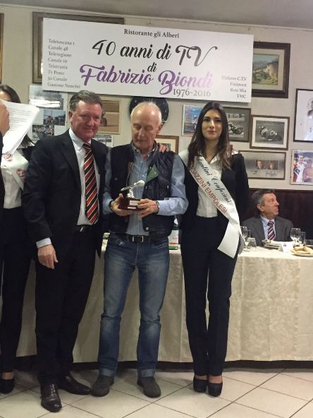 Roberto Poggiali, premiazione. (Foto Giacinto Gelli)