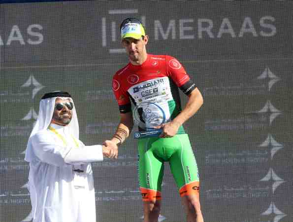 DUBAI TOUR: Maglia Flag UAE Nicola Boem (Foto Ansa)