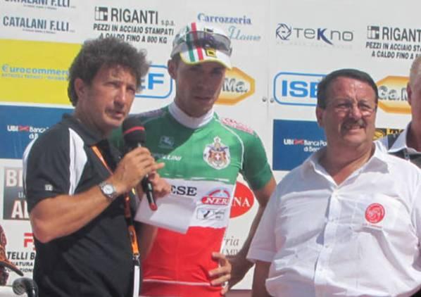 Da sx, Andrea De Luca, Giovanni Visconti e Mauro Macchi a Carnago