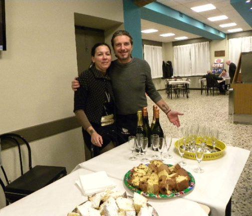 Katia e Nunzio, gestori del Circolo di Premezzo (Foto di Valentino Lavazza)