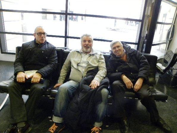 Al centro, il Presidente Aldo Russomanno a Rovereto con Valtorta e Ghisotti, presidente e vicepresidente CP-FCI di Monza&Brianza (Foto Nastasi)