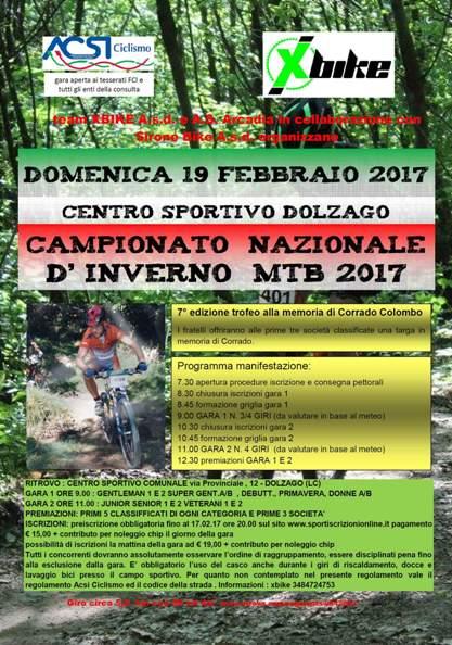 09.02.2017 - Campionato Nazionale d'Inverno Acsi a Dolzago