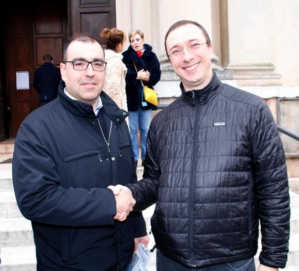 Don Brunelli e presidente FCI Verona